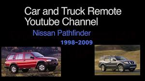 nissan pathfinder replacement remote programming 1998 2009 youtube