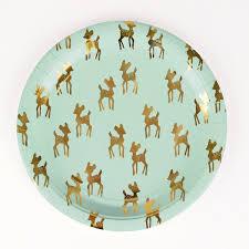 paper plates table decoration 8 paper plates golden fawns children s
