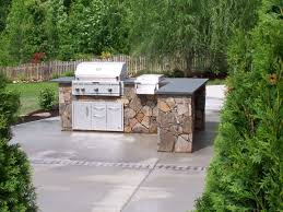 exteriors simple outdoor kitchen decor with l shape structure