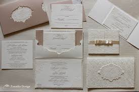 blush and white lace wedding invitation zenadia design