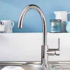 grohe bauedge single lever kitchen sink mixer tap 1 2