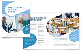 employment agency brochure template design