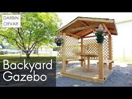 Backyard Gazebo Diy Backyard Gazebo 19 Steps With Pictures