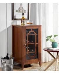 Walnut Wine Cabinet Wine Racks Kitchen