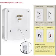 bestten wall mount usb outlet surge protector four 4 usb