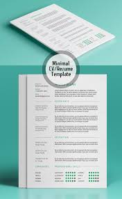 free minimalist resume designs free minimalistic cv resume templates with cover letter template