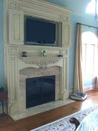 fireplace mantel cabinet custom distressed white fireplace
