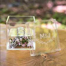 wedding rings in box personalized acrylic wedding ring box