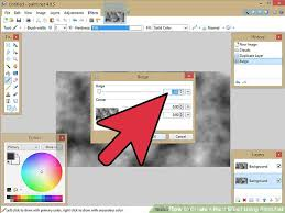 how to create a blast effect using paint net with pictures
