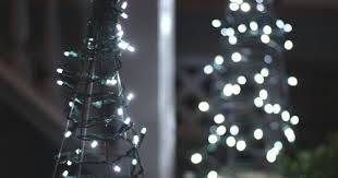 Decorative Trees With Lights 17 Apart Diy Tomato Cage Christmas Tree Lights