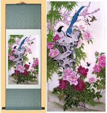 Chinese Art Design Spring Birds And Flower Chinese Art Painting Home Office
