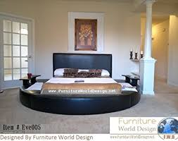 Circular Bed Frame Size Leather Bed With 2 Tables Item