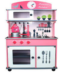 butternut pink wooden toy kitchen with accessories