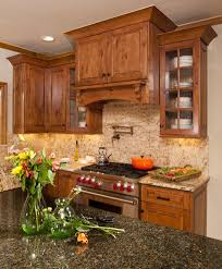 copper range hood kitchen transitional with ceiling lighting top