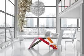 Esszimmertisch Vincent Esstisch Mattlack Weiß Farbige Füße Bunt Bei Möbel