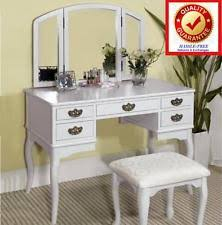 Guidecraft Classic White Vanity And Stool Solid Wood Vanities And Makeup Tables Ebay