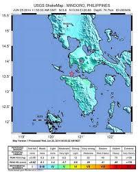 san jose mindoro map earthquake shakes mindoro philippines also felt in manila