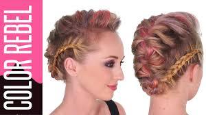 coiffure mariage africaine coloration temporaire color rebel redken coiffure chignon tresse