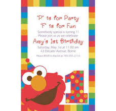 custom elmo 1st birthday banners invitations u0026 thank you notes