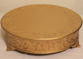 14 cake stand grand wedding matte gold cake stand plateau 14 inch ebay