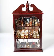 Queen Anne Style by Queen Anne Style Display Case With Miniature Perfume Bottles Ebth