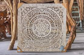 fantastic wood carved wall decor antique balinese panel india