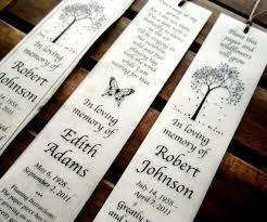 memorial bookmarks 100 plantable seed paper bookmarks memorial funeral favors