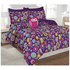 Purple Full Size Comforter Set Amazon Com Shopkins Kids 5 Piece Bed In A Bag Full Size Bedding