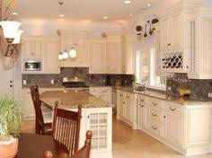 Antique Cream Kitchen Cabinets My 80 U0027s Kitchen Gets A Major Makeover Behr Kitchens And House