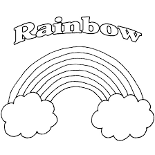 easy free rainbow coloring pages rainbow pot of gold coloring