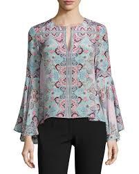paisley blouse nanette lepore other silk paisley blouse blue neiman