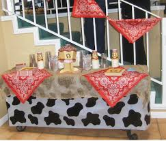 cowboy baby shower ideas real simple decorating banner is just bandanas together at