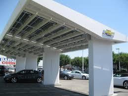 Car Carport Canopy Gigaom Photos Charging Up The Volt Under A Solar Canopy