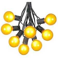 Patio String Lights by Amazon Com G50 Patio String Lights With 25 Yellow Globe Bulbs