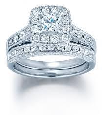 princess cut wedding set vintage wedding ring set with 1 2 carat princess cut diamond in