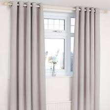 dove grey orion blackout eyelet curtains dunelm