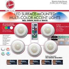 under cabinet lighting no wires hoover multi color led accent lights with remote control 5 pack