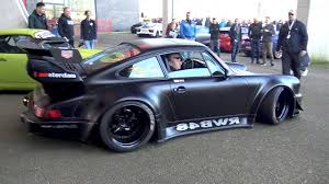 stanced porsche 964 rwb rauh welt begriff porsche 964 widebody youtube