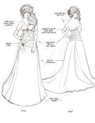 wedding dress sketch 3 by cathylyn on deviantart