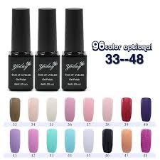 2015 newest soak off uv led gel nail polish 96 fashion colors