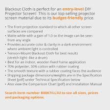 Blackout Cloth Walmart by Amazon Com Carl U0027s Blackout Cloth Diy Projector Screen Raw