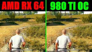 pubg 980 ti pubg amd rx vega 64 stock vs gtx 980 ti overclocked frame rate