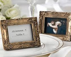 picture frame wedding favors antique finish place card holder photo frame wedding favors by