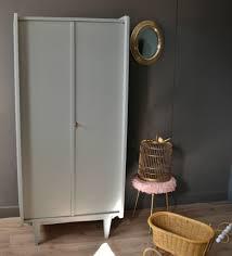armoire vintage enfant armoire penderie gris perle vendue atelier vintage