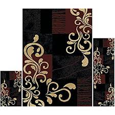 amazon com new city contemporary modern flowers squares wool area