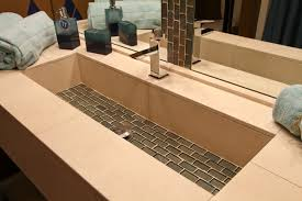 trough sink modern bathroom cleveland by architectural justice