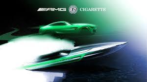 cigarette racing mercedes amg gt r inspires cigarette racing powerboat