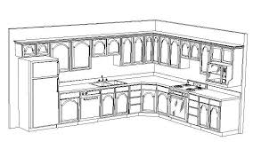 easy kitchen drawing with free 3d kitchen design layout kitcad