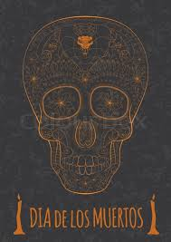 dia de muertos illustration of traditional mexican skull with