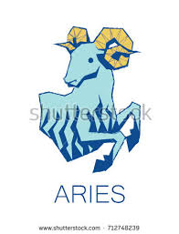 aries zodiac sign astrology symbol illustration stock illustration